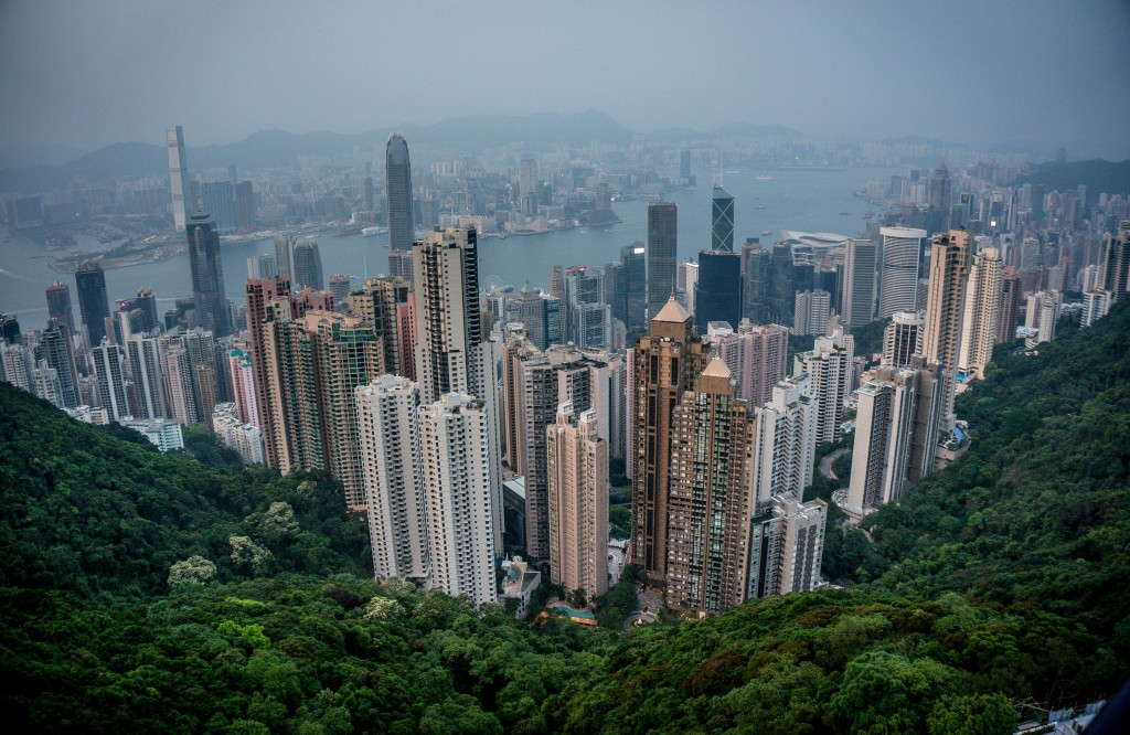 The amazing Hong Kong skyline from Victoria Peak