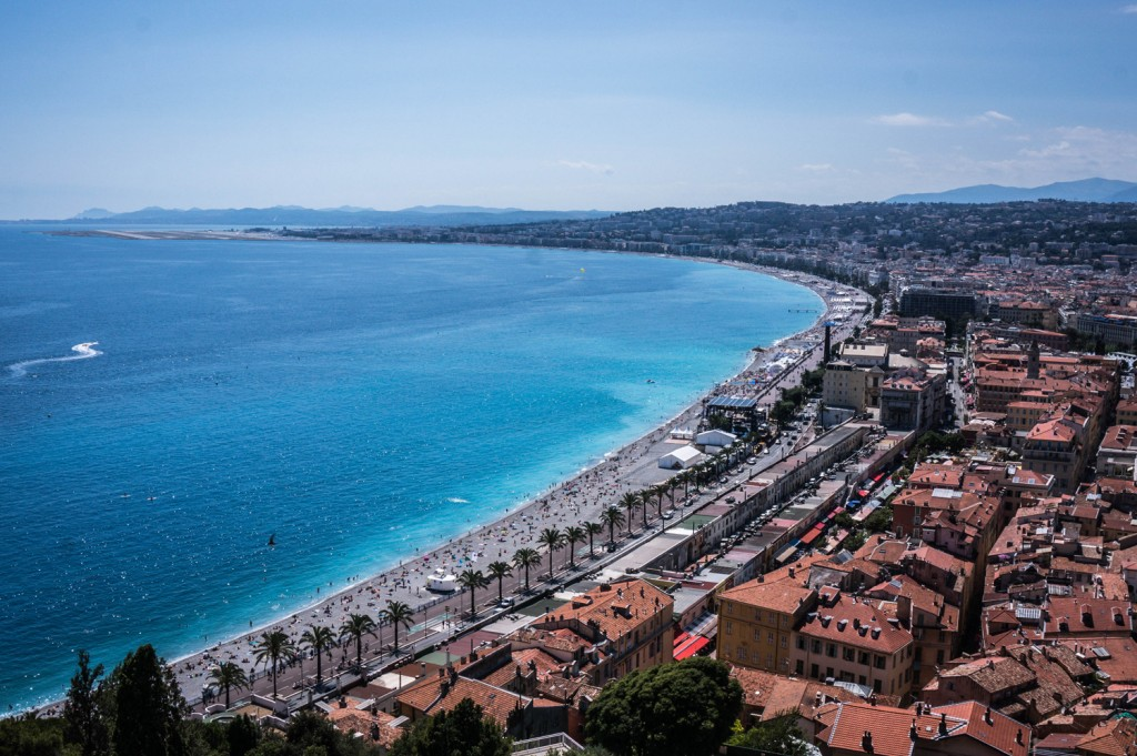 The amazing view of Nice, France
